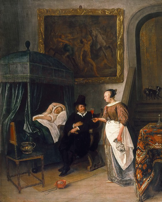 Jan Steen - The Doctor's Visit. Mauritshuis