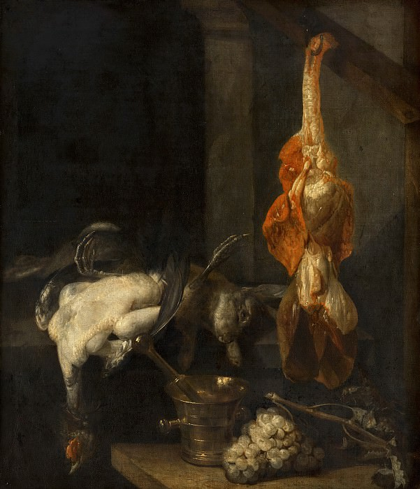 Abraham van Beyeren - Still Life with Game and Fowl. Mauritshuis