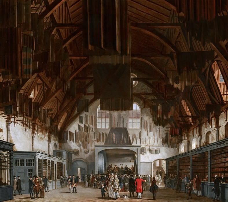 Hendrik Pothoven - The Main Hall of the Binnenhof in The Hague, with the State Lottery Office. Mauritshuis
