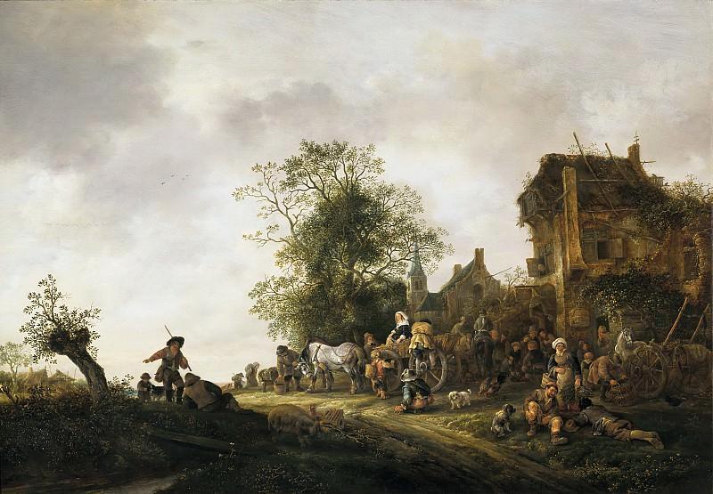 Isack van Ostade - Travellers outside an Inn. Mauritshuis