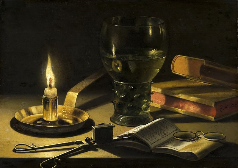 Pieter Claesz - Still Life with Lighted Candle. Mauritshuis