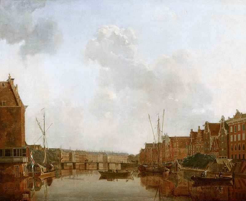Gerrit Toorenburgh - View of the River Amstel in Amsterdam. Mauritshuis
