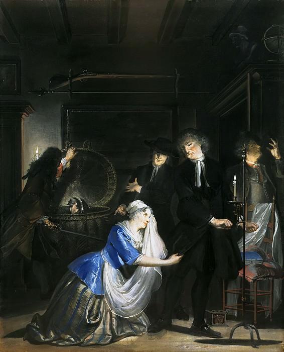 Трост, Корнелис - Притворная добродетель: Обнаружение Волькерта в бельевой корзине. Маурицхёйс