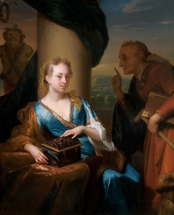 Godfried Schalcken - A Useless Moral Lesson. Mauritshuis