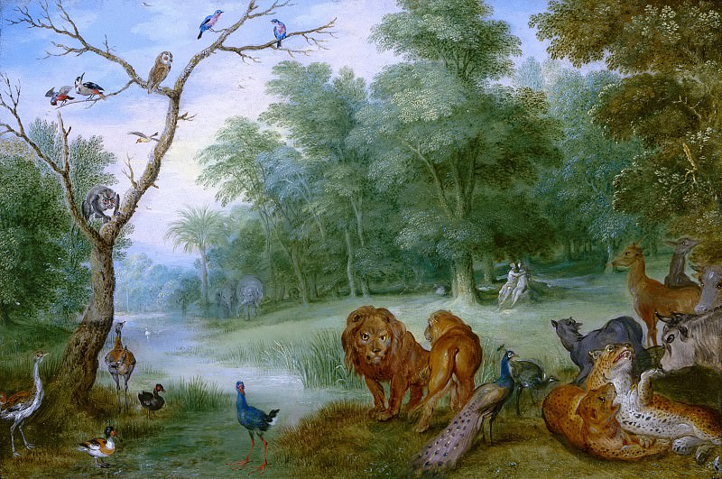 Jan Brueghel the Younger (possibly) - Paradise with the Fall of Man. Mauritshuis