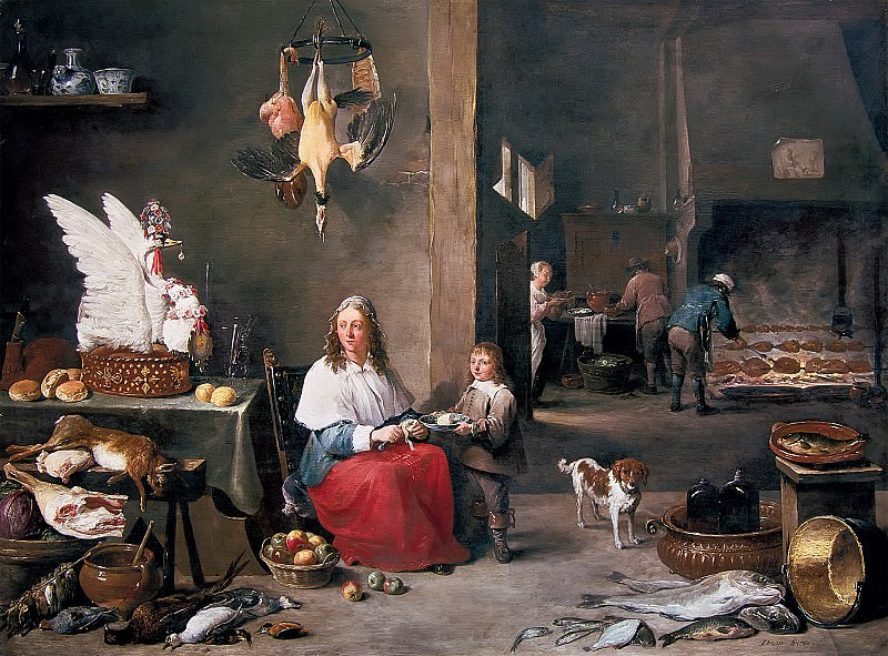 David Teniers the Younger - Kitchen Interior. Mauritshuis