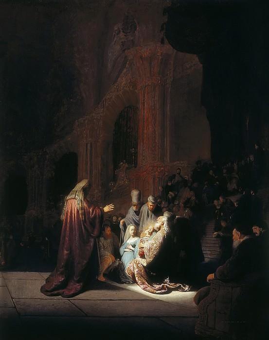 Rembrandt van Rijn - Simeon's Song of Praise. Mauritshuis