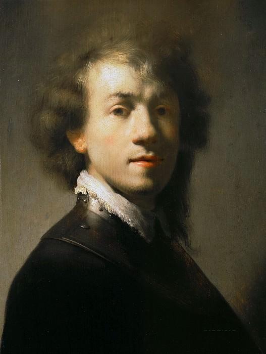 Рембрандт (копия мастерской) - Портрет Рембрандта с горжетом. Маурицхёйс