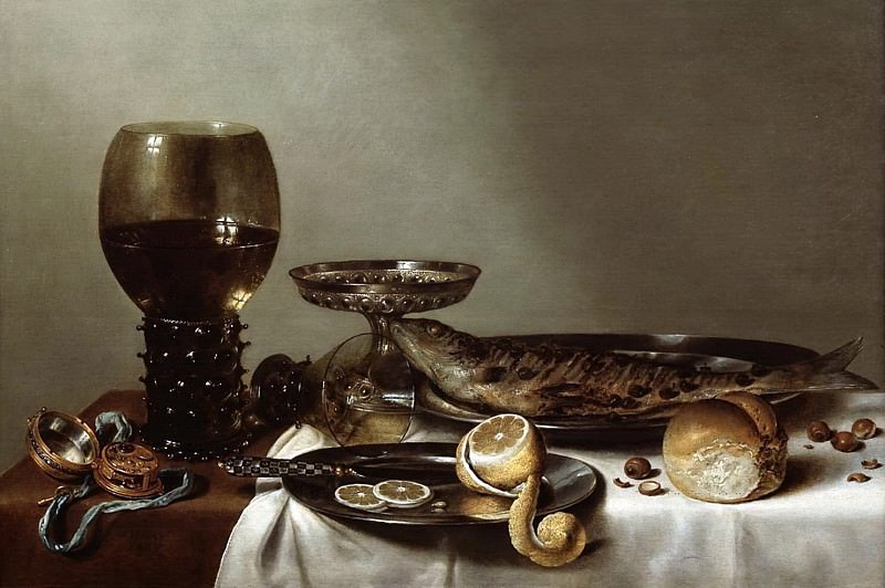 Willem Claesz Heda - Still Life with a Rummer and Watch. Mauritshuis