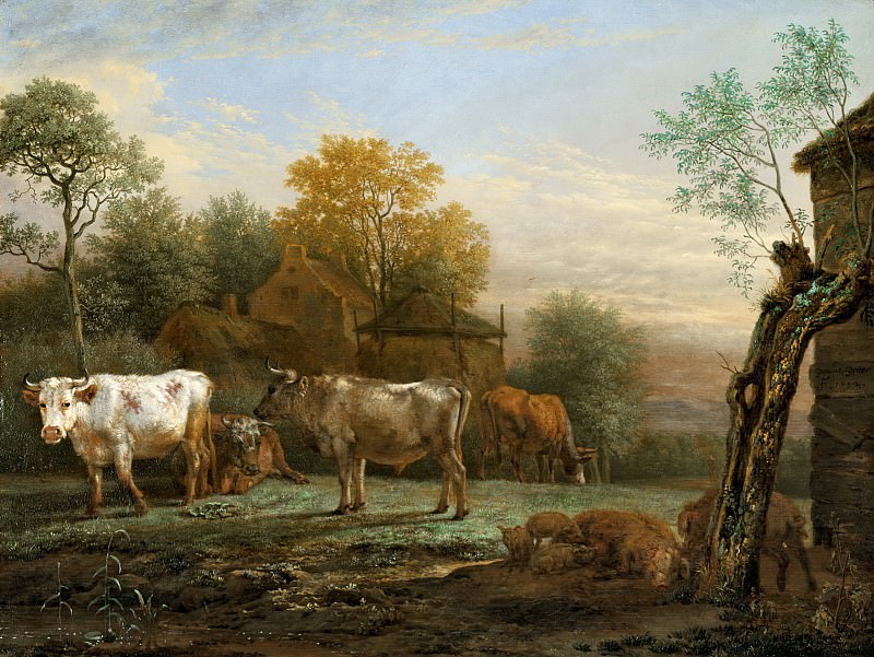 Paulus Potter - Cattle in a Meadow. Mauritshuis