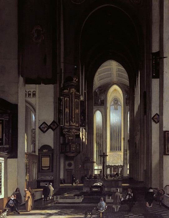 Emanuel de Witte - Interior of an Imaginary Catholic Church. Mauritshuis