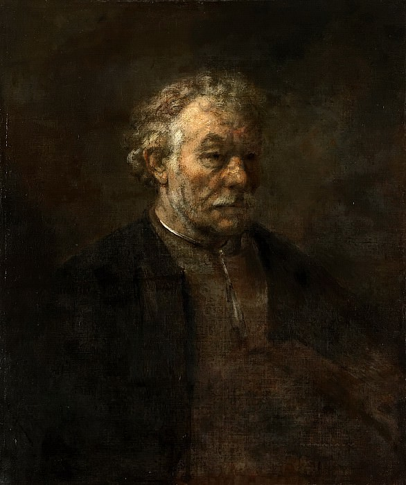 Rembrandt van Rijn (attributed to) - Study of an Old Man. Mauritshuis