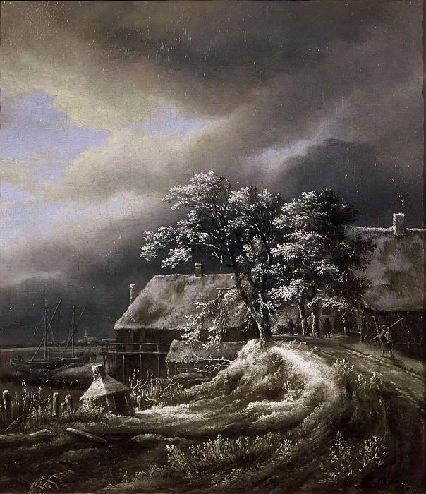 Jacob van Ruisdael - Winter Landscape. Mauritshuis