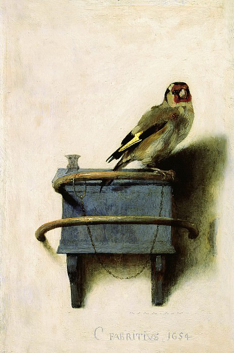 Carel Fabritius - The Goldfinch. Mauritshuis