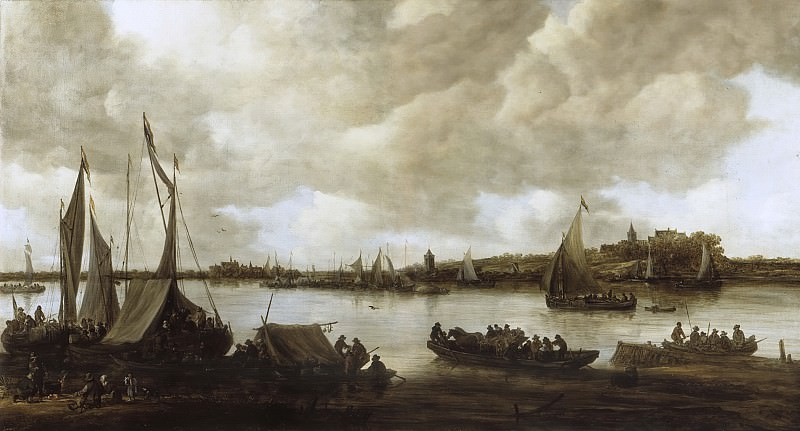 Jan van Goyen - View of the Rhine near Hoog-Elten. Mauritshuis