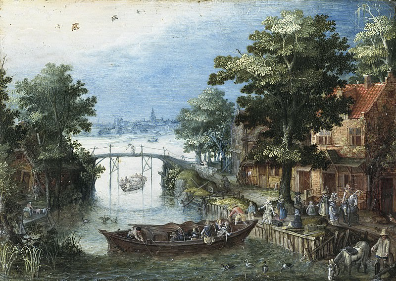 Christoffel van den Berghe - Summer Landscape. Mauritshuis