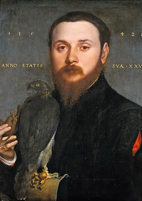 Hans Holbein the Younger - Portrait of a Nobleman with a Falcon. Mauritshuis