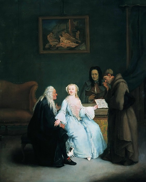 Pietro Longhi (1702-1785) - The Music Lesson. Part 4