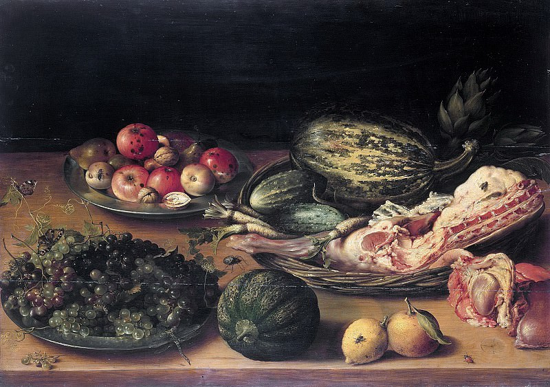 Netherlands - Still Life with Fruit, vegetables and veal. Part 4