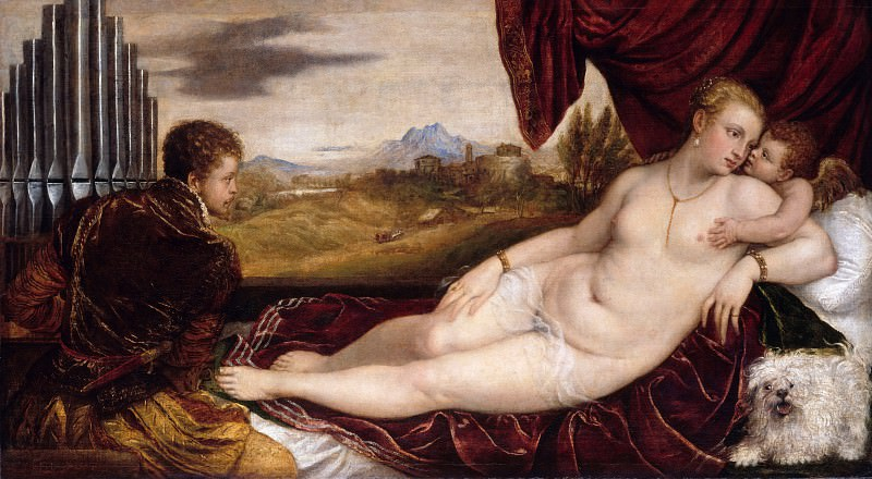 Tizian (1488-90-1576) - Venus with the Organ Player. Part 4