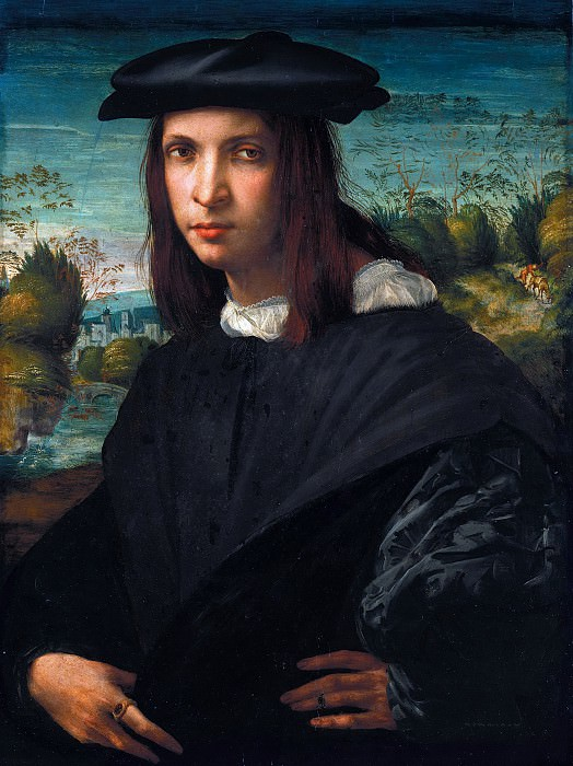 Rosso Fiorentino (1494-1540) - Portrait of a young man. Part 4