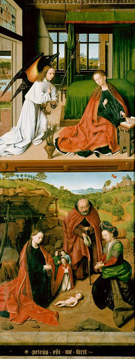 Petrus Christus (c.1410-c.1475) - Wing of a triptych. Part 4