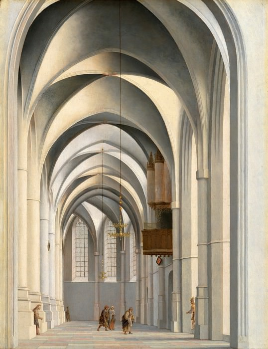 Pieter Saenredam (1597-1665) - View of the St. Bavo in Haarlem. Part 4