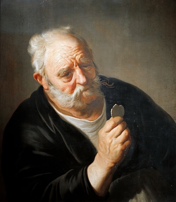 Backer, Jacob (1608-1651) - Old man with broken mirror. Part 4