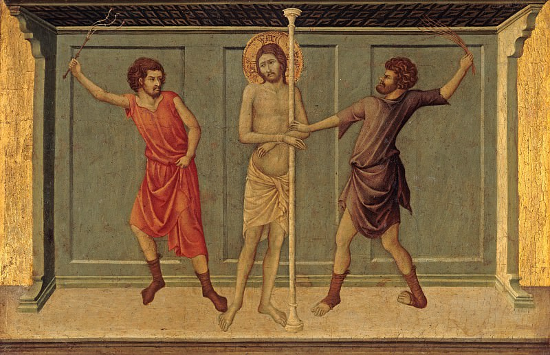 Ugolino di Nerio - The Flagellation of Christ. Part 4