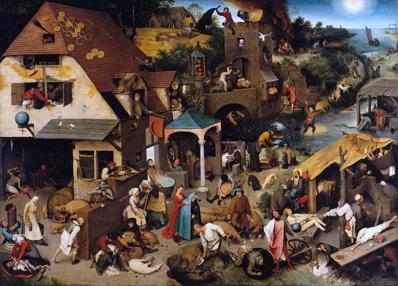 Брейгель, Питер I (ок1525-1569) - Фламандские пословицы. Часть 4