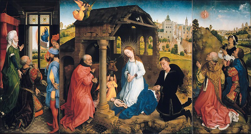 Rogier van der Weyden (1400-1464) - The Middelburg Altar. Part 4