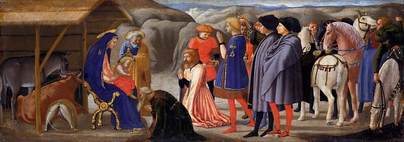 Tommaso Masaccio (1401-1428) - Predella panel from the Pisa Altar - Adoration of the Magi. Part 4