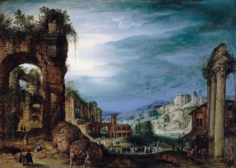 Бриль, Пауль (1554-1626) - Римский пейзаж с руинами. Часть 4