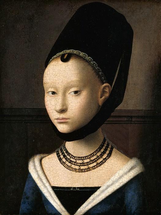 Petrus Christus (c.1410-c.1475) - Portrait of a Young Woman. Part 4