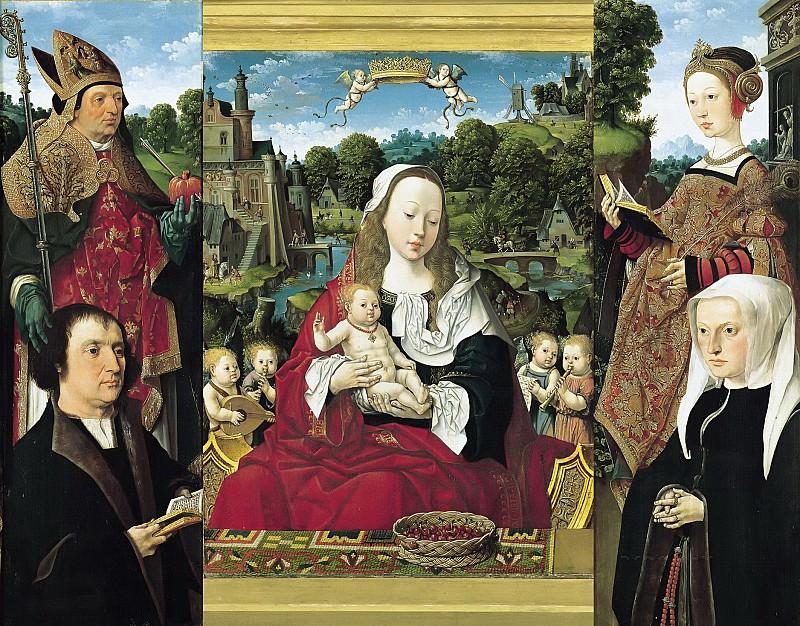Остзанен, Якоб Корнелис ван (ок1470-1533) - Триптих Августина Тейлингенского. Часть 4
