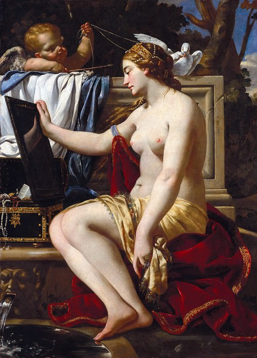 Simon Vouet (workshop) - The Toilet of Venus. Part 4