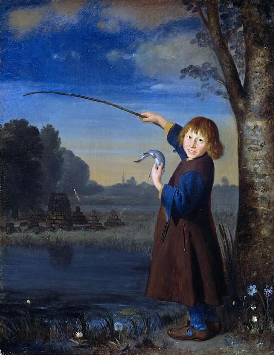 Pieter van Slingeland (1640-1691) - The Young fisherman. Part 4