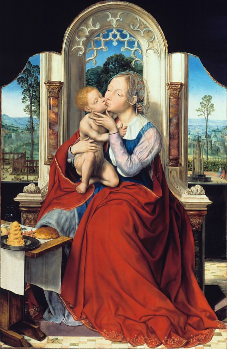 Quentin Massys (1466-1530) - The Virgin Enthroned. Part 4