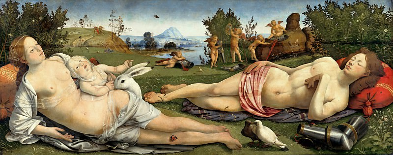 Piero di Cosimo (1462-1521) - Venus, Mars and Cupid. Part 4