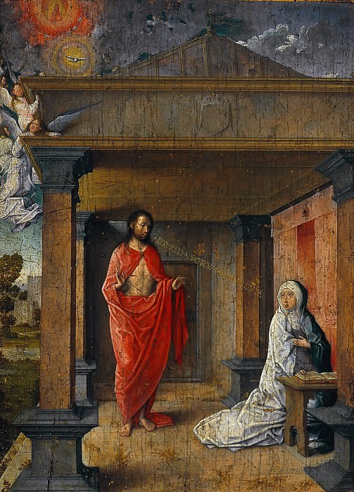 Juan de Flandes (c.1465-1519) - Christ appears to Mary. Part 4