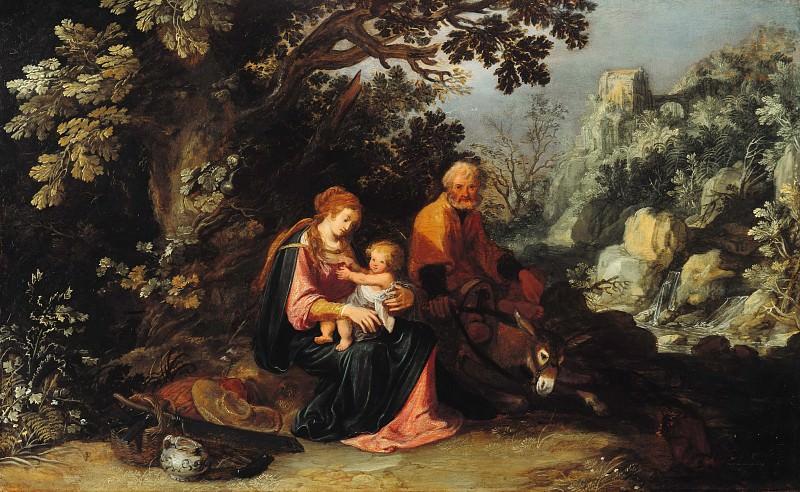 Pieter Lastman (1583-1633) - The Rest on the Flight to Egypt. Part 4