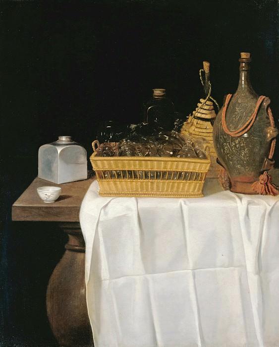 Sebastian Stosskopf (1597-1657) - Still life with glasses and bottles. Part 4
