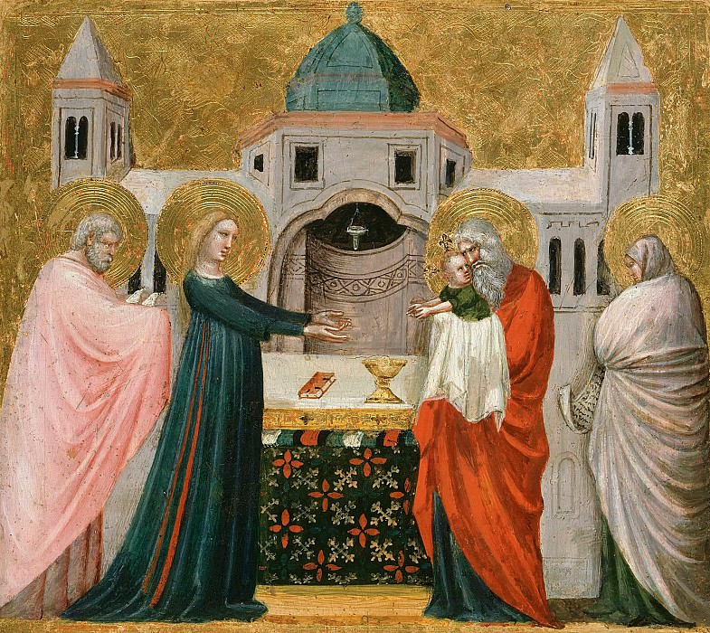 Pietro da Rimini (1300-1350) - The Presentation in the Temple. Part 4