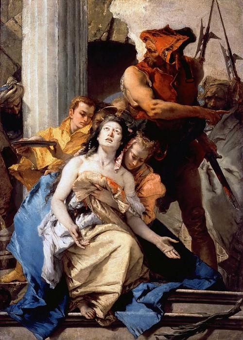 Tiepolo, Giovanni Battista (1696–1770) - Martyrdom of St. Agatha. Part 4