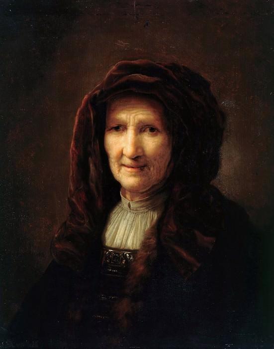 Pieter Verelst (c.1618-c.1678) - Portrait of an old woman. Part 4