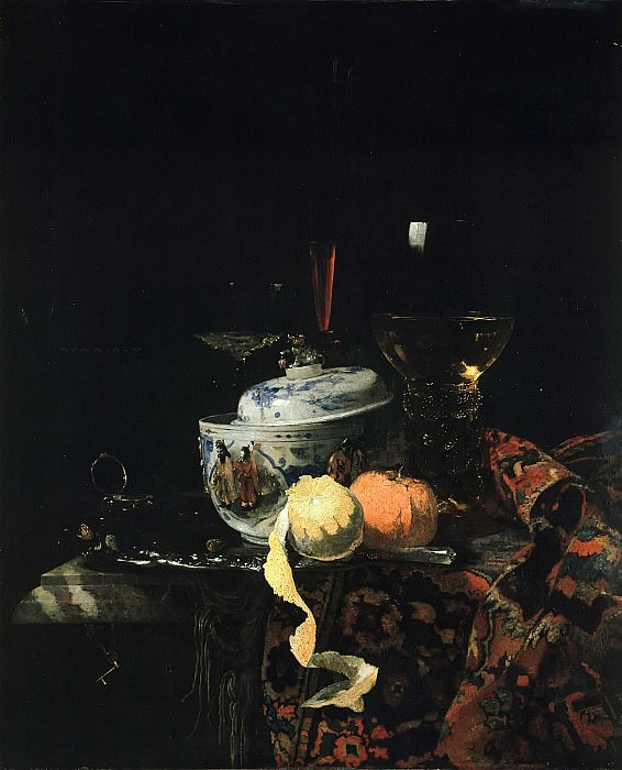 Willem Kalf (1619-1693) - Still life with Chinese porcelain. Part 4