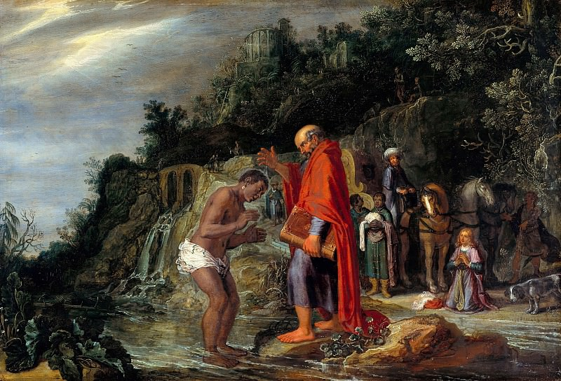 Pieter Lastman (1583-1633) - The baptism of the eunuch. Part 4