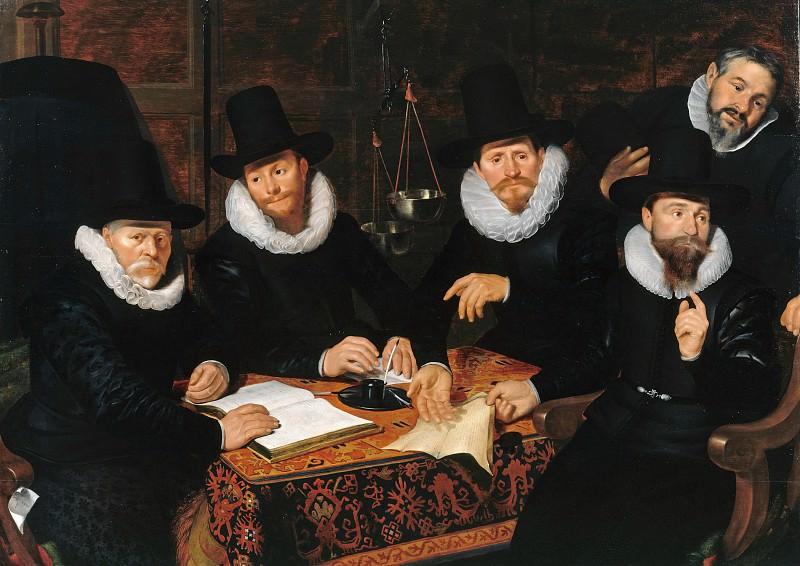 Werner van Valckert (1585-after1627) - Four Regents of Kramergild. Part 4