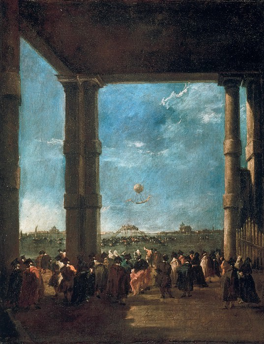 Francesco Guardi (1712–1793) - The Balloon Take off of Count Zambeccari. Part 4