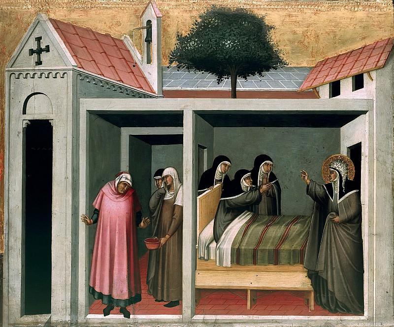 Pietro Lorenzetti (c.1280-1348) - Beata Umiltà Heals a Sick Nun. Part 4